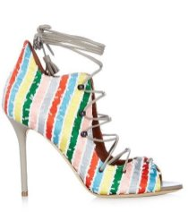 malone soulies savannah lace up striped satin sandals