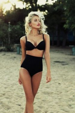 retro swim look