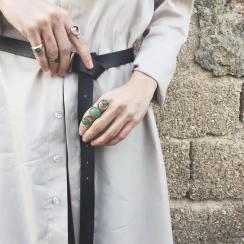 Dante leather belt