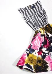 dress with stripes and flowers