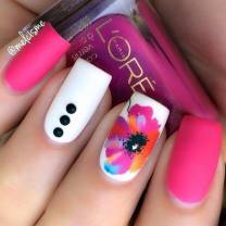 floral and dots
