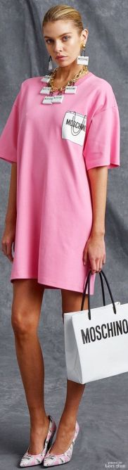 moschino resort pink dress