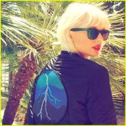 taylor swift bleached blonde hair