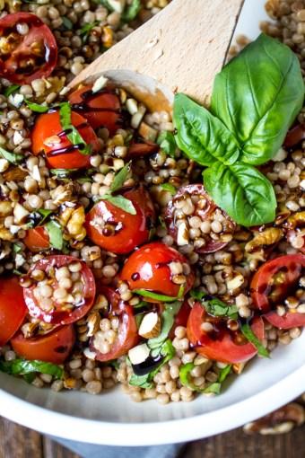tomato basil israeli couscous salad
