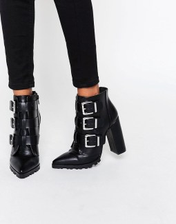 asos enza multi buckle pointed