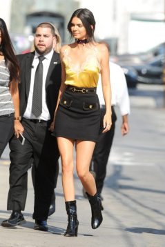 90s-trends-kendall-jenner silk dress on
