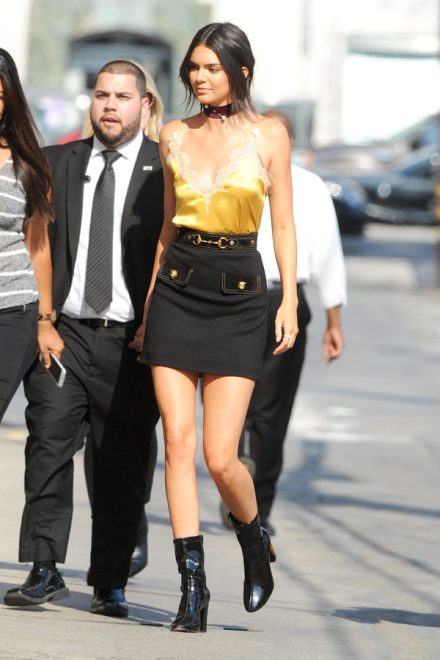 90s-trends-kendall-jenner silk dress on