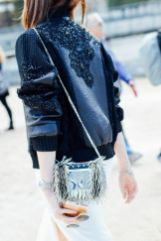 bomber jacket with sequins