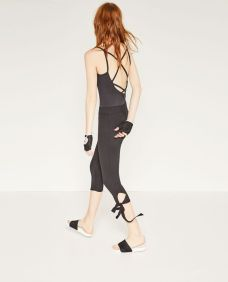 cropped bow trousers from zara