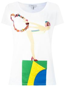 isolda embroidered t-shirt farfetch