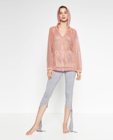 lace with hoodie from zara