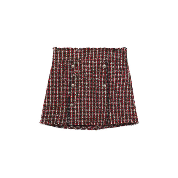 mini skirt with textures