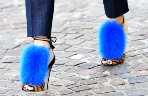 sergio-rossi-neon-blue-fur-best-shoes-ideas-2016
