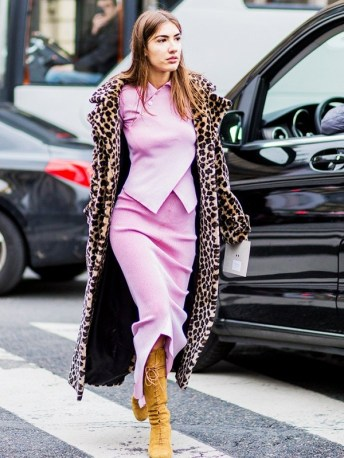 baby pink with leopard