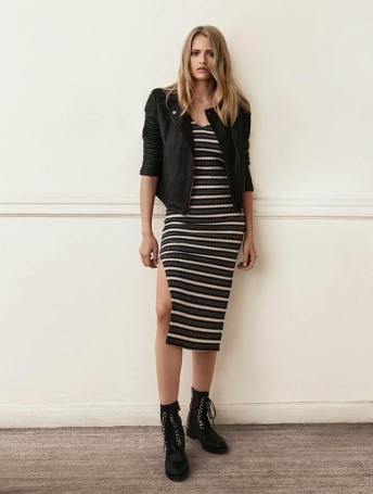 stripe-casual-dress