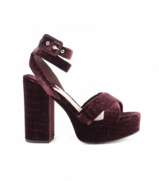 ash platform sandals plum velvet