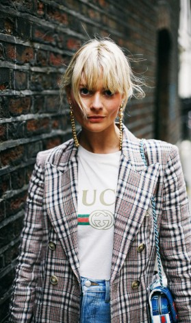 distressed printed cotton jersey t shirt and isabel marant linen blazer