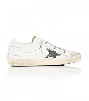 golden goose superstar satgin and suede sneakers