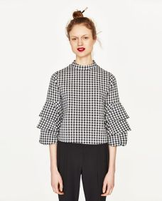 top zara gingham