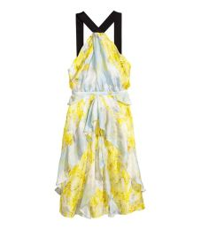 H&M silk chiffon dress