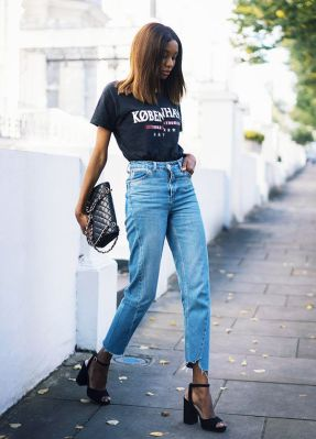 graphic tee and denim