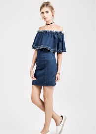 j.o.a. off the shoulder dress