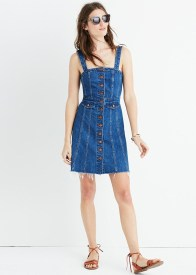 madewell raw edge dress