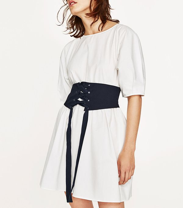 zara corset like dress
