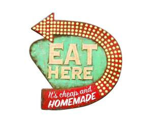 Tin-Eat-here-Sign