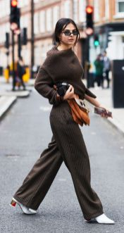 dark brown chunky jumper