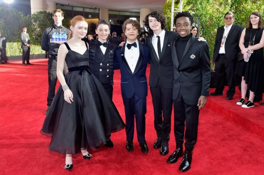 sadie-sink-stranger-things-cast-2018-golden-globe-awards stranger things