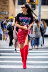 pvc red skirt