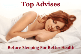 Before Sleeping For Better Health