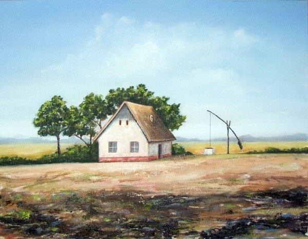 Uncle' Farm Oil Painting Fine Arts - Original