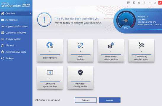 Ashampoo WinOptimizer 2021 License Key Free Full Version