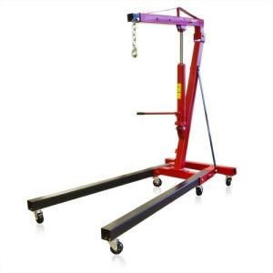 Best Choice Products New 2 Ton Engine Hoist Cherry Picker Ship Crane Folding Lift