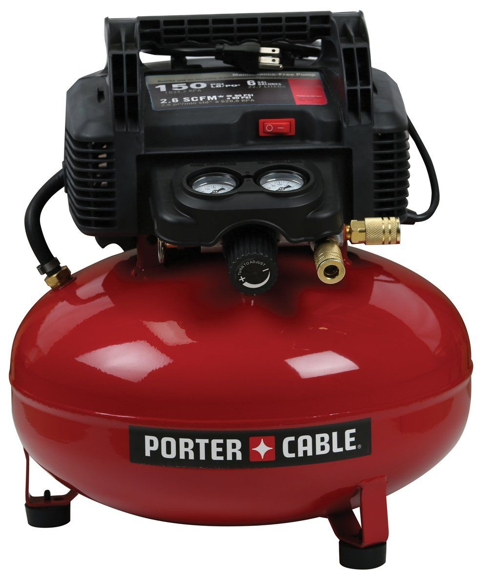 This Porter Cable 6 Gallon Air Tank Has No Oil Pump So Theres No Need To Ever Worry About The Oil Pump Level Its Relatively Light And Compact At Just 32