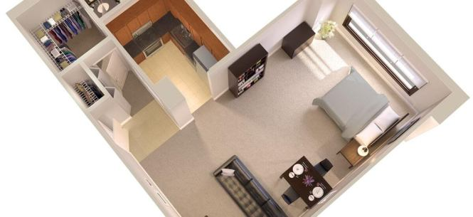 Topaz House Efficiency Apartments In Bethesda Floor Plan