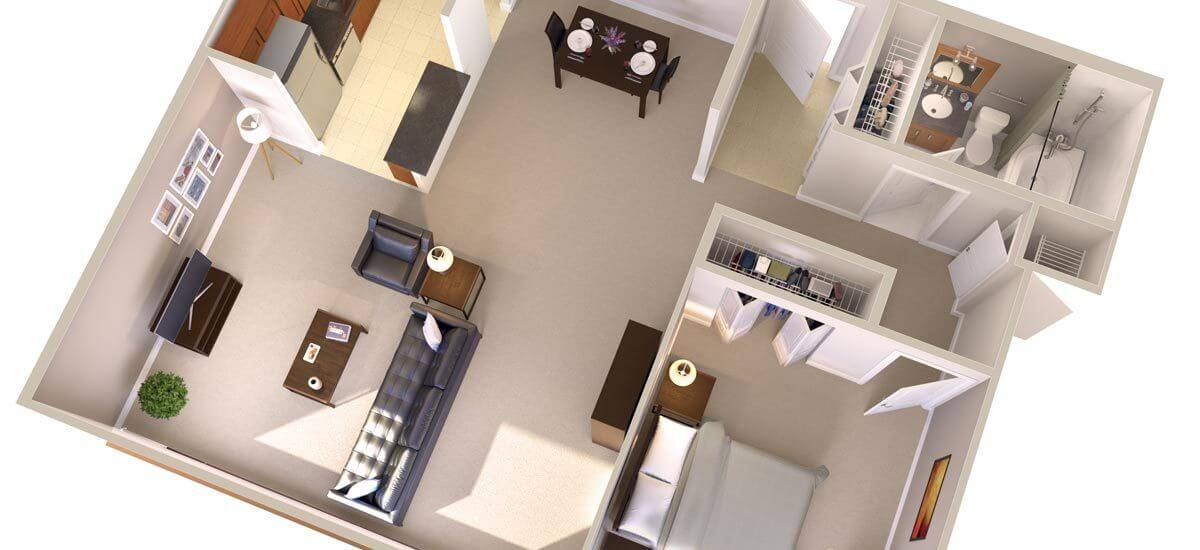 One Bedroom Apartments in Bethesda MD  Topaz House