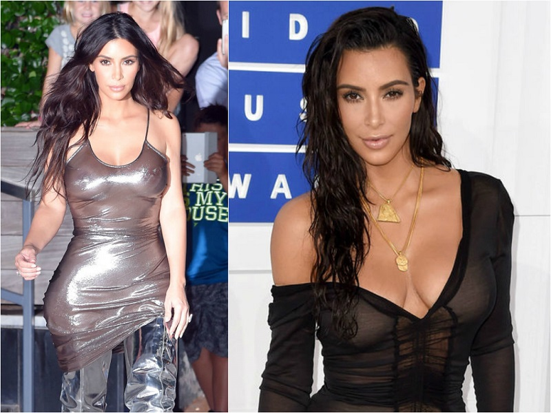 Braless Celebrities_kim kardashian 1