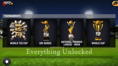 World cricket championship 2 Everything unlocked