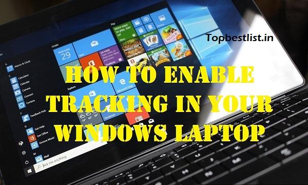 Windows Laptop Tracking