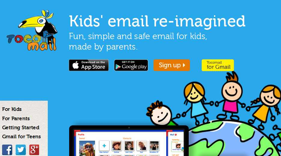 Tocomail is a Safe Email for Kids on iPhone, iPad, Android and Web. Try it for free. Tocomail gives parents control over kids email account while providing kids with fun messenger app.