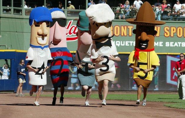 Milwaukee Sausage Races Cartoon