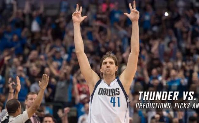 Thunder Vs Mavericks Predictions Preview March 27 2017