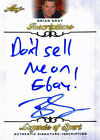 "Leaf Brian Gray ""Dont sell me on Ebay"" Signed 2015 Legends of Sport Insc. Card"
