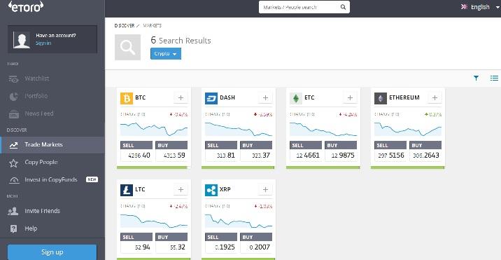 etoro Bitcoin trading en ligne