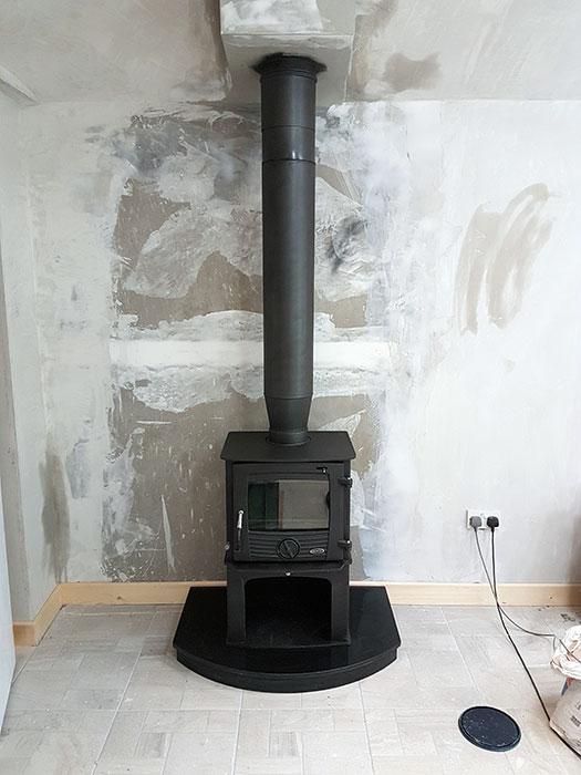 Druid 8kw Log Box Chimney And Stove Services Ireland