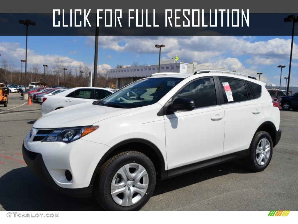 Toyota Rav4 White - amazing photo gallery, some information and specifications, as well as users rating and price