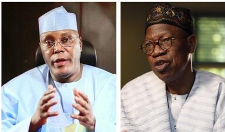 Image result for Atiku and Lai Mohammed